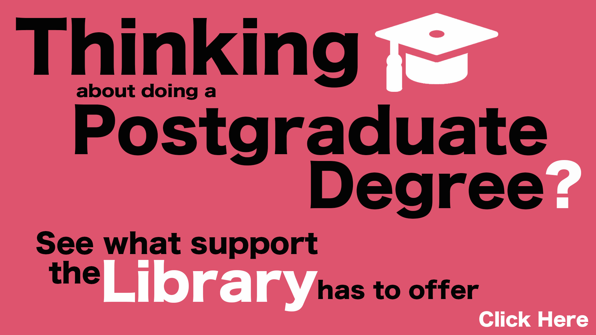 Link to postgraduate LibGuide