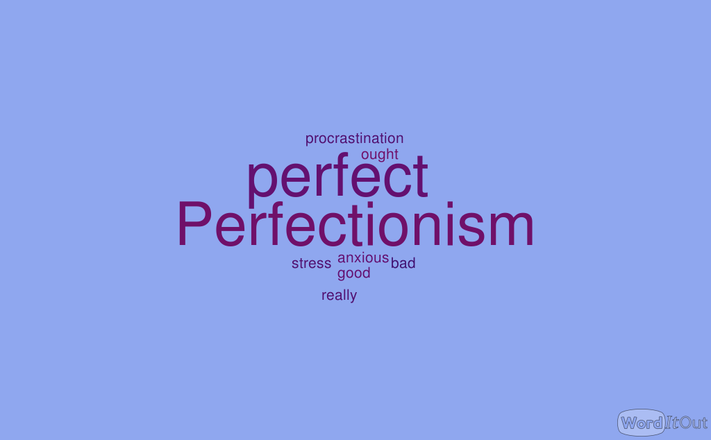 words associated with perfectionism