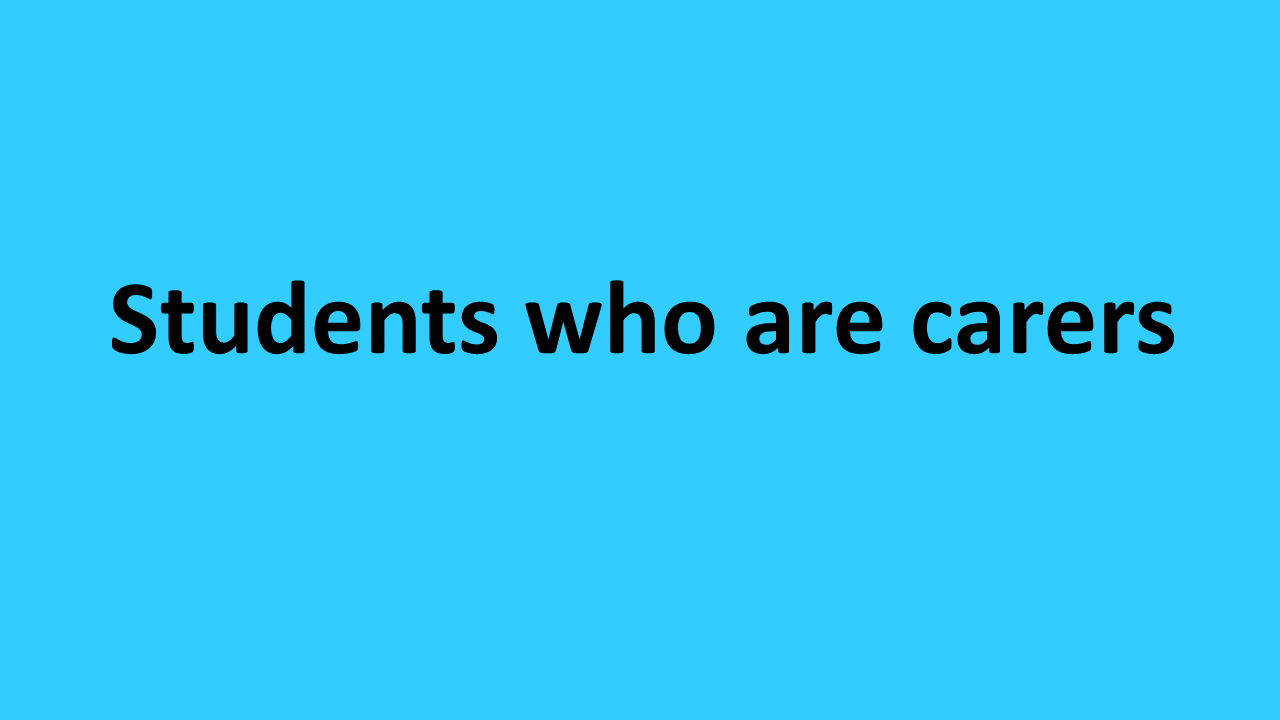 Students who are carers