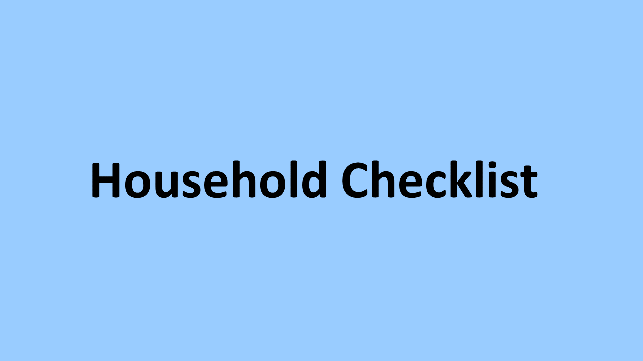 Household checklist