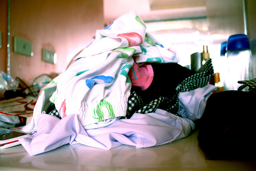 photograph of pile of laundry
