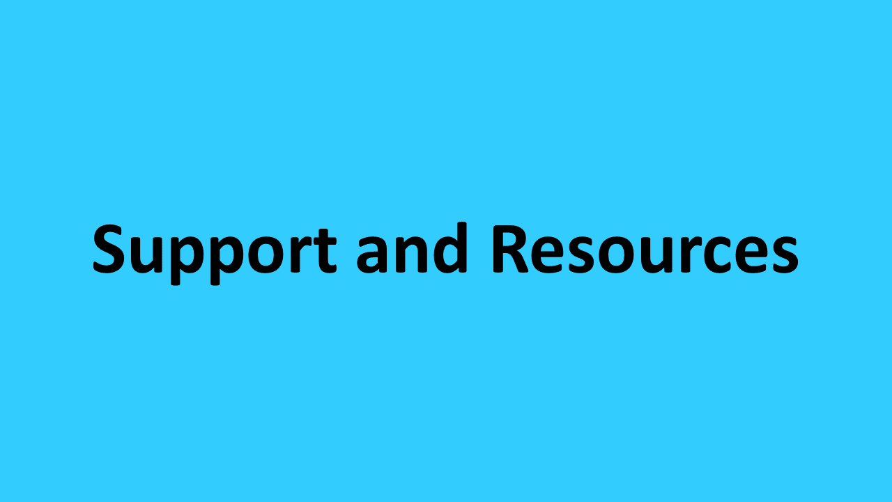 Support and Resources