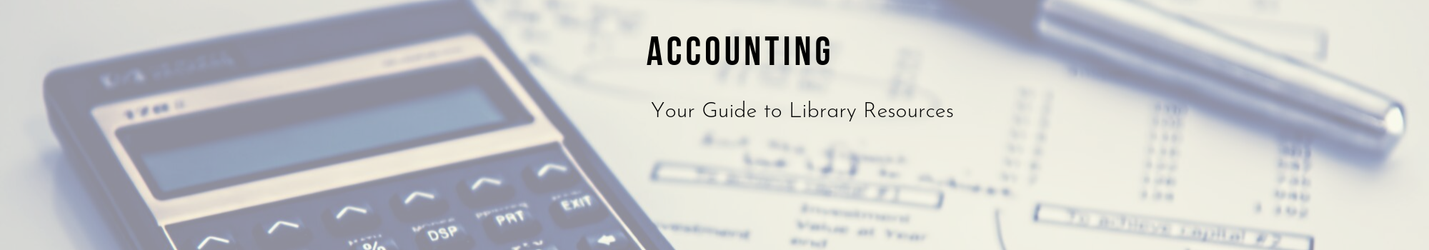 Accounting LibGuide
