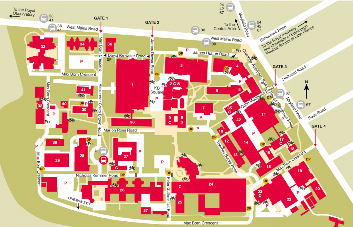 Campus maps and more from the University of Edinburgh's Maps website