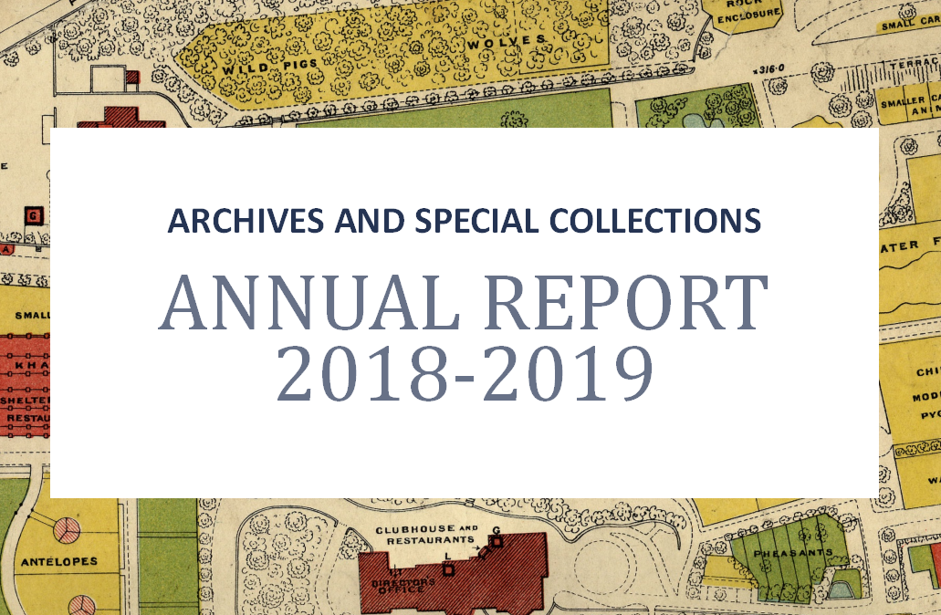 Archives and Special Collections annual report 2018-2019