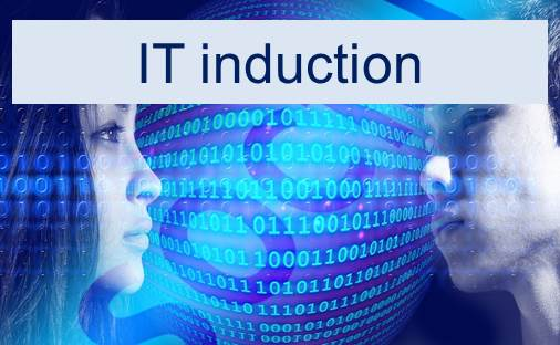 link to the IT induction support page