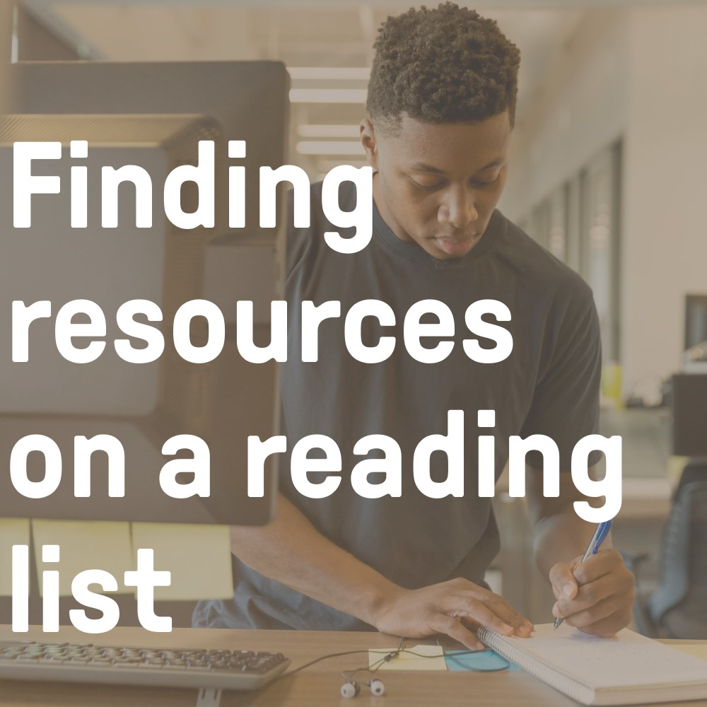 Finding resources on a reading list