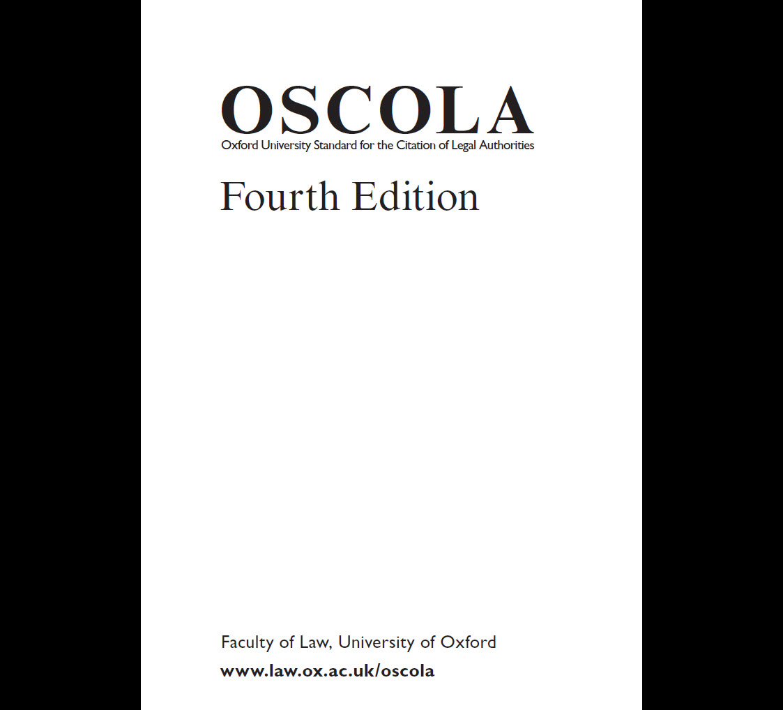 OSCOLA guide fourth edition document download