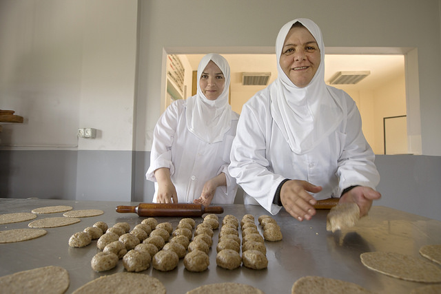 UN Women - Two women baking bread - Lebanon - CC Joe Saade
