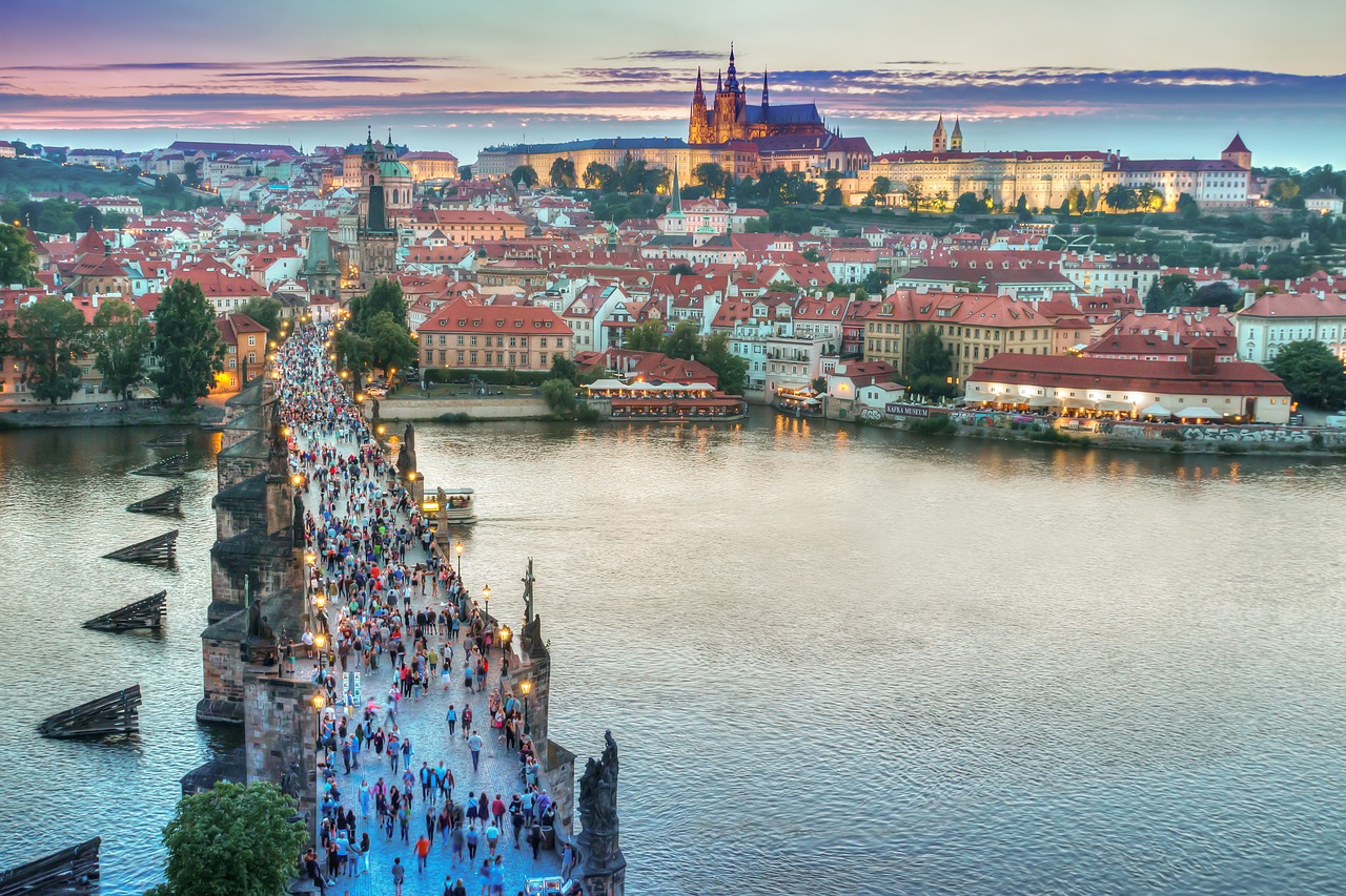 Photograph of Charles bridge in Prague