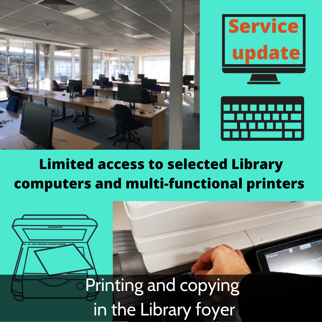 Printing and copying in the Library foyer