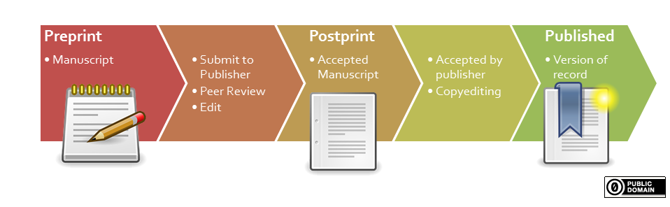 document versions in the publiblishing process