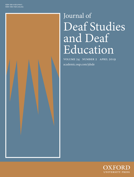 Journal of Deaf Studies and Deaf Education