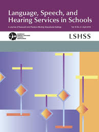 Language, Speech & Hearing Services in Schools