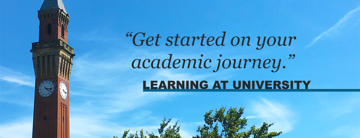 Get started on your academic journey