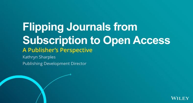 Flipping journals from subscription to open access