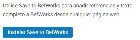 RefWorks: instalar Save to RefWorks