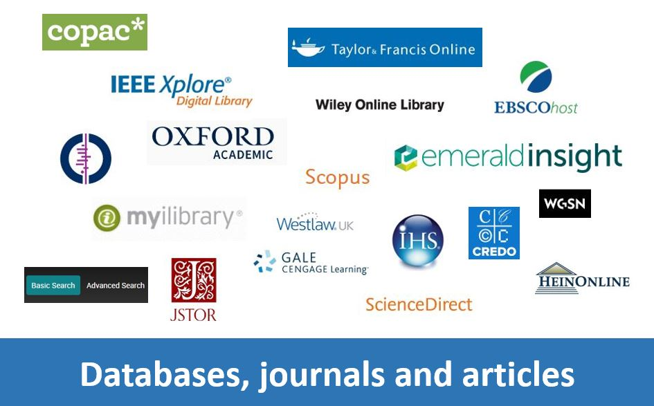Click here for information on and access to databases, journals and articles