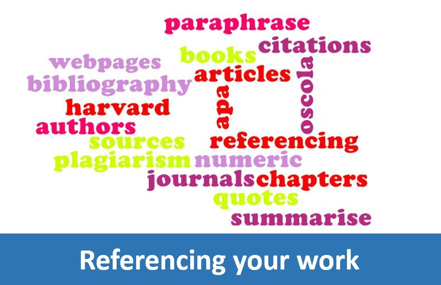Click here for help on referencing your work