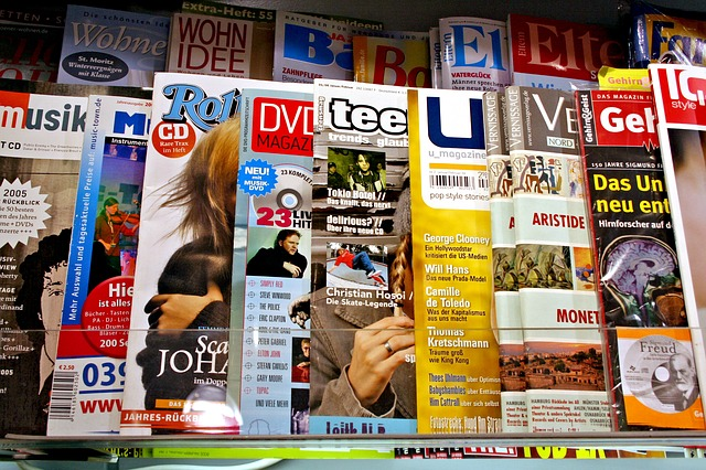 image of magazine covers