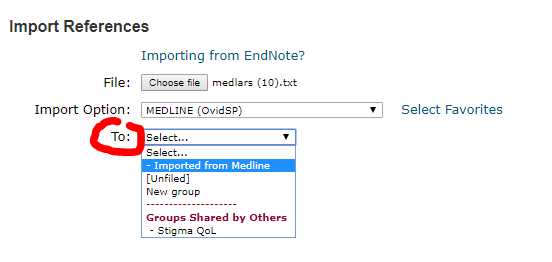 Choose with Group to import records to