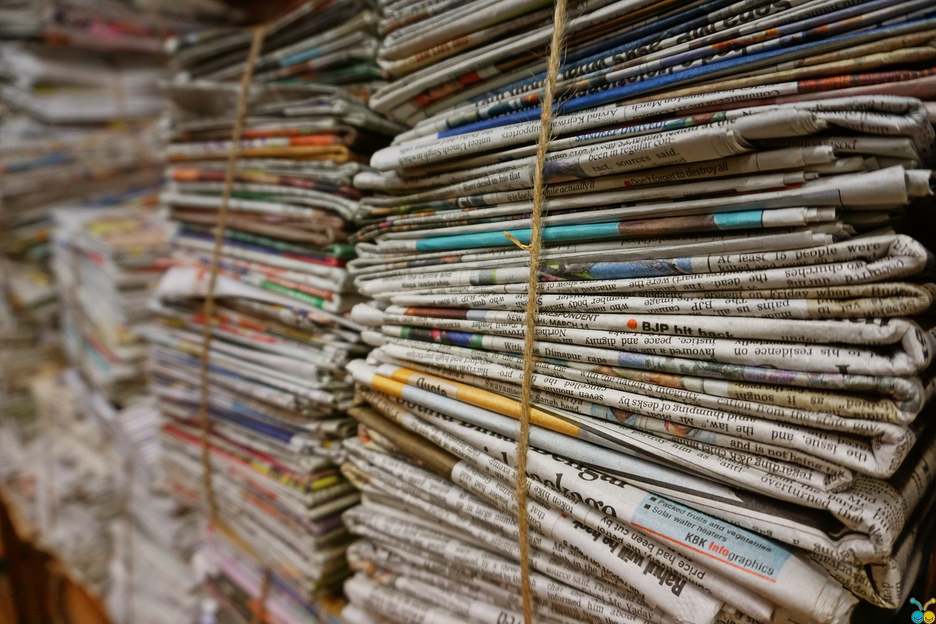 Picture of bundle of newspapers