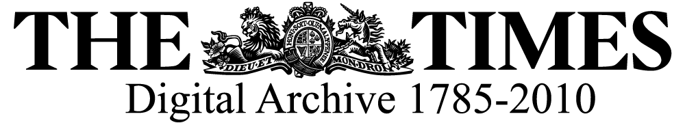 logo for the Times Digital Archive and link