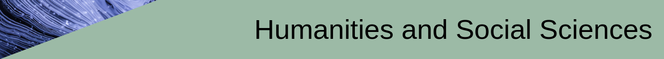 Humanities and Social Sciences banner with abstract image