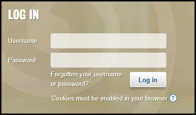 Screenshot of KEATS login box