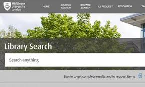 Picture of Library Search homepage
