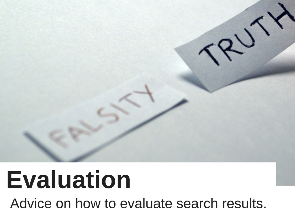 Evaluation: advice on how to evaluate search results