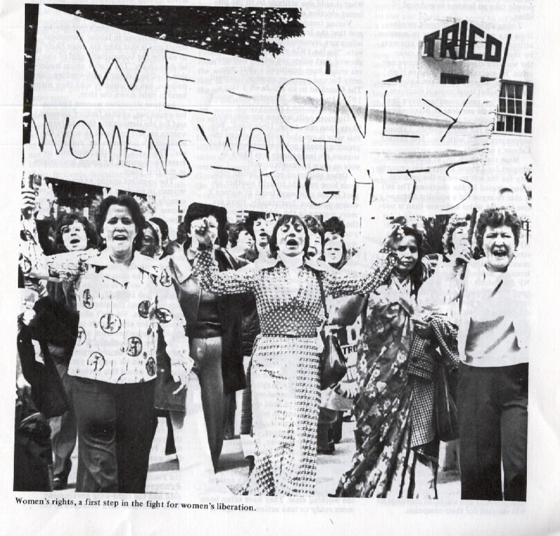 Photograph of a demonstration held by the Socialist Women group