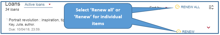 Image showing how to renew books