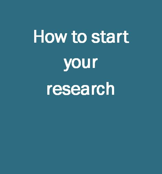 How to start your research