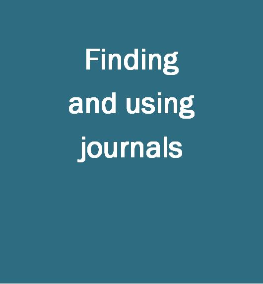 FInding and using journals