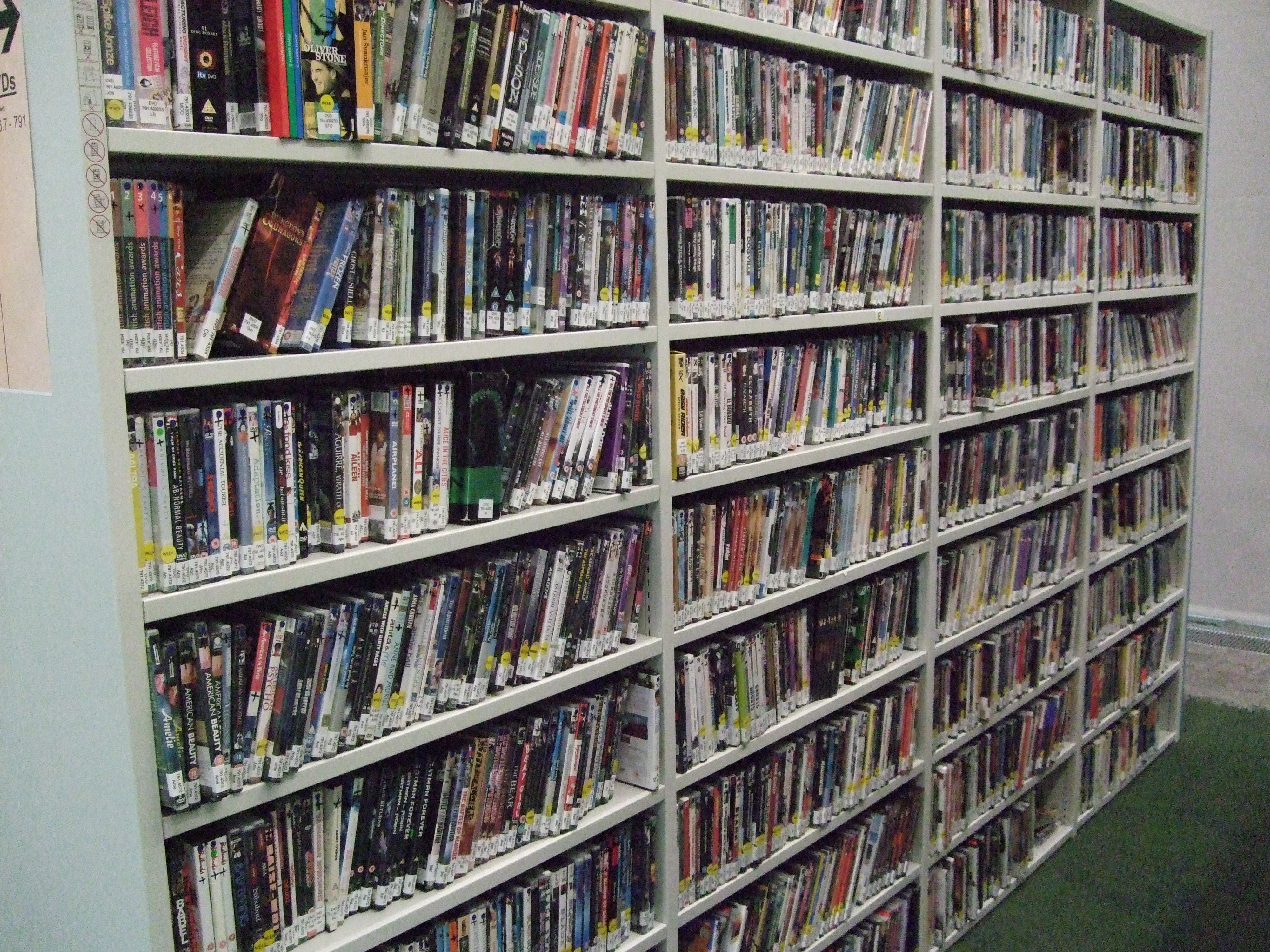 DVDs in Curzon Room C001