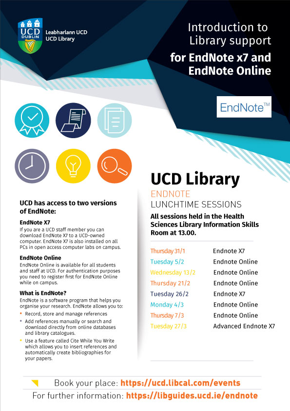 EndNote training poster 2019