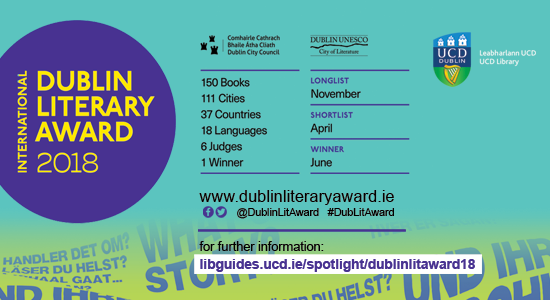International DUBLIN Literary Award 2018 banner