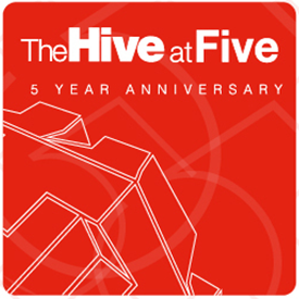 Hive at five logo