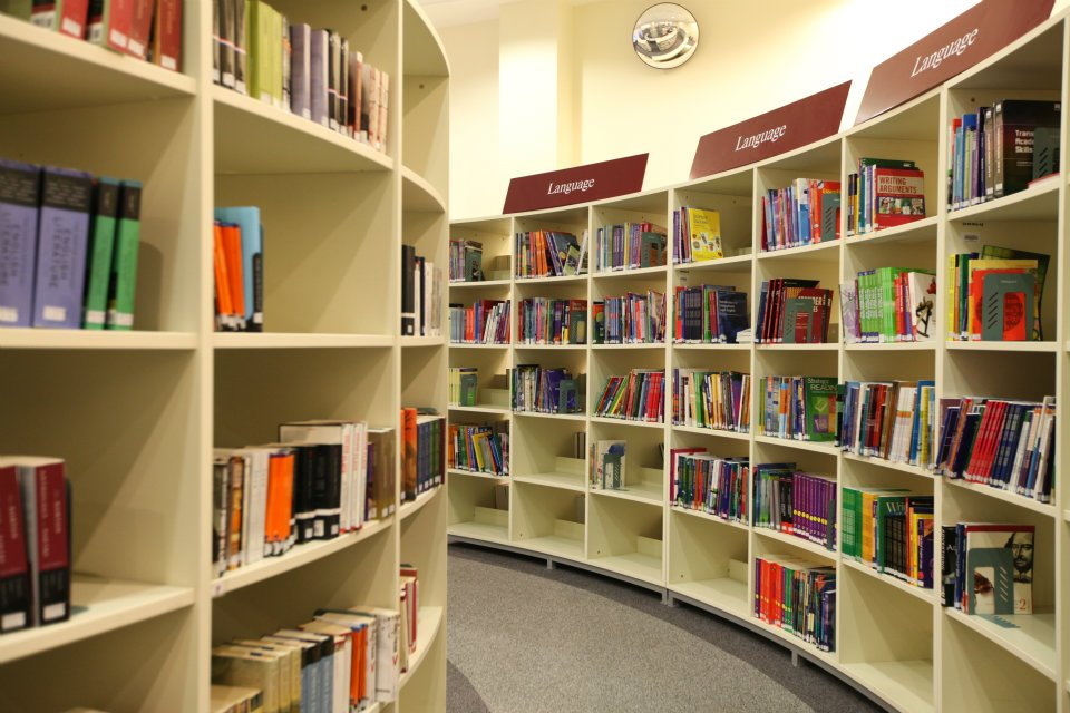 Image of books on the shelves