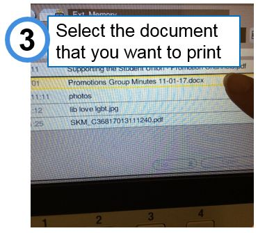 Select the document you want from the list