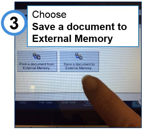 choose save a document to external memory