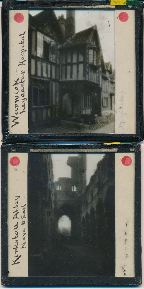 Two of the older slides in the collection