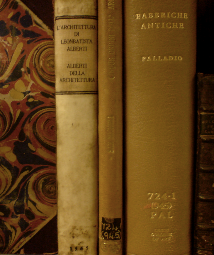 Spines of rare books