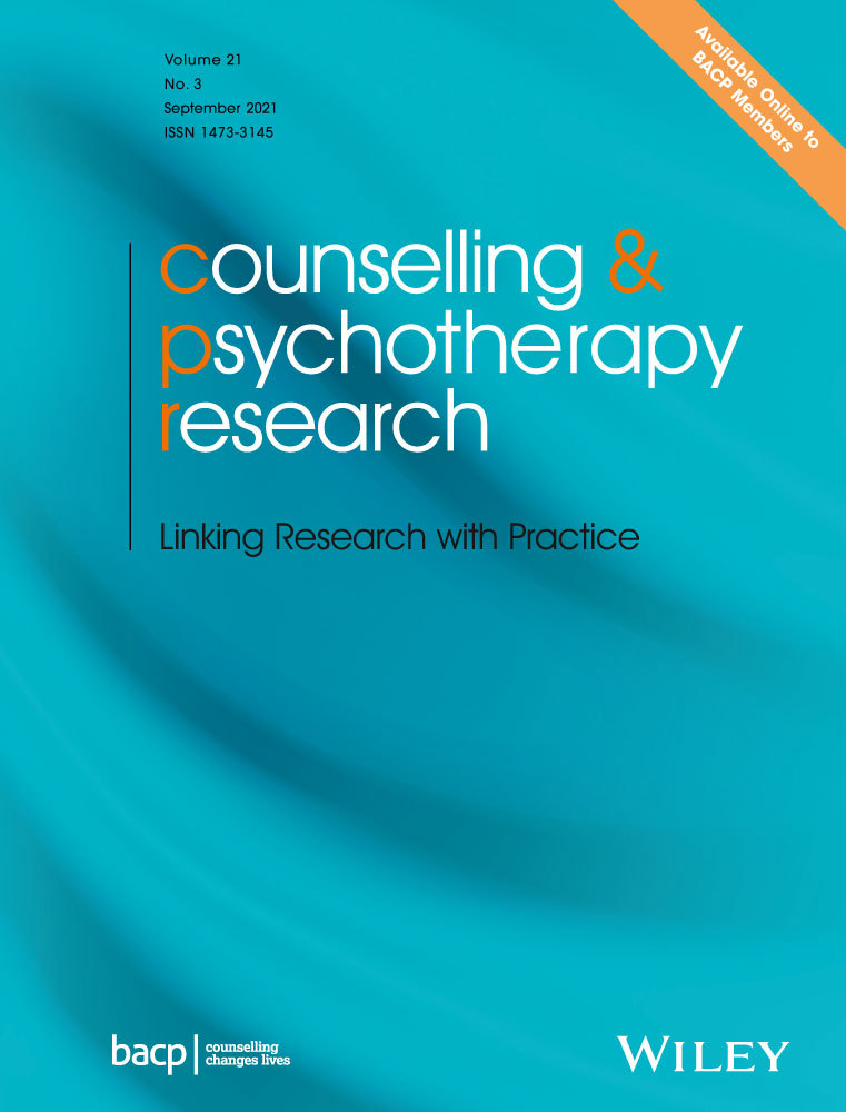 journal of Counselling & Psychotherapy Research