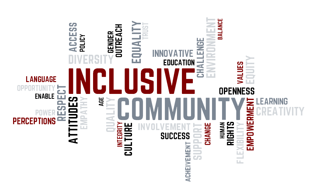 tag cloud inclusive community