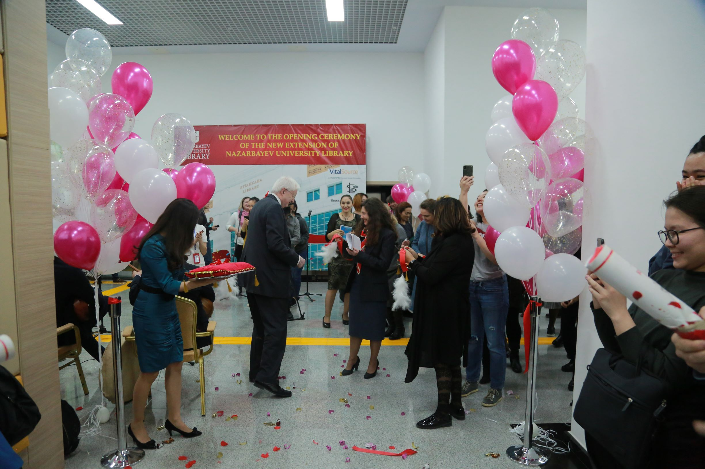opening of library extension. second floor lobby