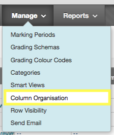Manage column organisation