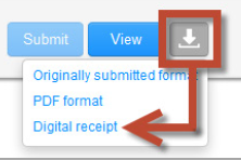 digital receipt download button
