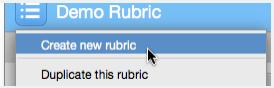 New Rubric